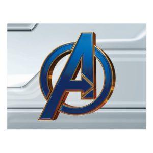 Avengers: Endgame | Avengers Blue & Gold Logo Postcard