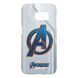 Avengers: Endgame | Avengers Blue & Gold Logo Samsung Galaxy S7 Case