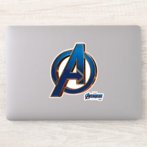 Avengers: Endgame | Avengers Blue & Gold Logo Sticker