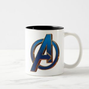Avengers: Endgame | Avengers Blue & Gold Logo Two-Tone Coffee Mug