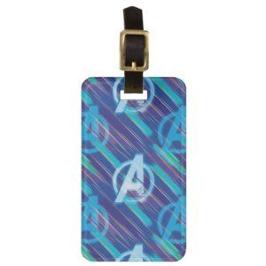 Avengers: Endgame | Avengers Blue Logo Pattern Bag Tag