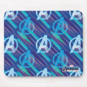 Avengers: Endgame | Avengers Blue Logo Pattern Mouse Pad