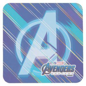 Avengers: Endgame | Avengers Blue Logo Pattern Square Paper Coaster