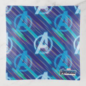 Avengers: Endgame | Avengers Blue Logo Pattern Trinket Trays