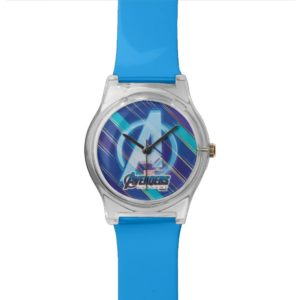 Avengers: Endgame | Avengers Blue Logo Pattern Watch