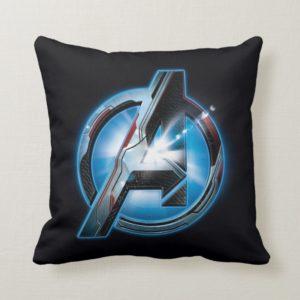 Avengers: Endgame | Avengers Hi-Tech Logo Throw Pillow