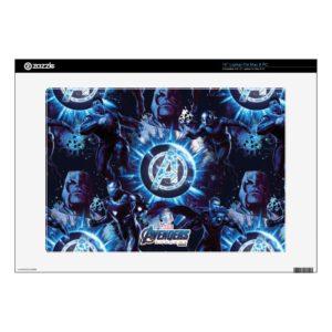 "Avengers: Endgame | Avengers & Thanos Blue Pattern 15"" Laptop Decal"