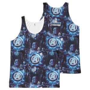 Avengers: Endgame | Avengers & Thanos Blue Pattern All-Over-Print Tank Top