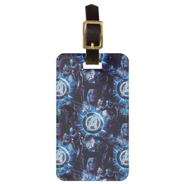Avengers: Endgame | Avengers & Thanos Blue Pattern Bag Tag