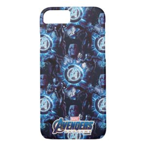 Avengers: Endgame | Avengers & Thanos Blue Pattern Case-Mate iPhone Case