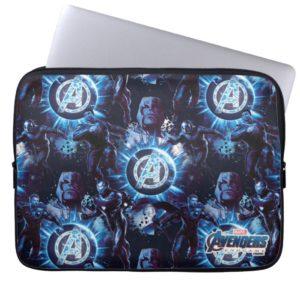 Avengers: Endgame | Avengers & Thanos Blue Pattern Computer Sleeve