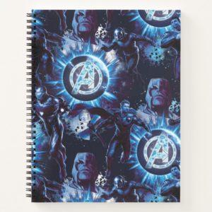 Avengers: Endgame | Avengers & Thanos Blue Pattern Notebook