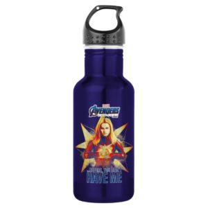 "Avengers: Endgame | ""Before, You Didn't Have Me"" Stainless Steel Water Bottle"