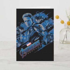 Avengers: Endgame | Blue Avengers Group Graphic Card