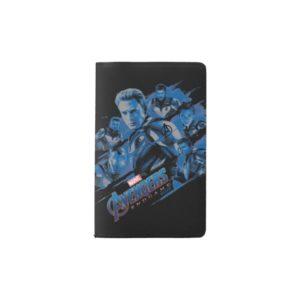 Avengers: Endgame | Blue Avengers Group Graphic Pocket Moleskine Notebook