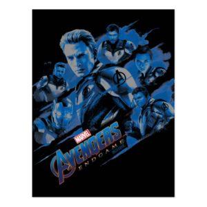 Avengers: Endgame | Blue Avengers Group Graphic Postcard