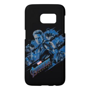 Avengers: Endgame | Blue Avengers Group Graphic Samsung Galaxy S7 Case