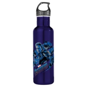 Avengers: Endgame | Blue Avengers Group Graphic Stainless Steel Water Bottle