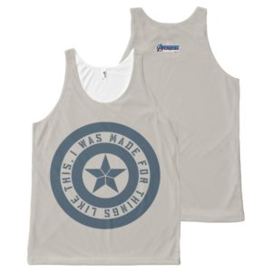 """Avengers: Endgame   Captain America """"I Was Made"""" All-Over-Print Tank Top"""