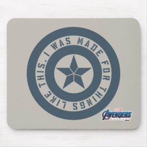 "Avengers: Endgame | Captain America ""I Was Made"" Mouse Pad"