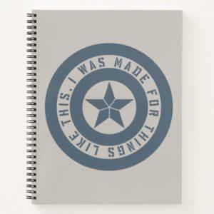 "Avengers: Endgame | Captain America ""I Was Made"" Notebook"