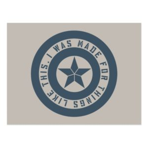 "Avengers: Endgame | Captain America ""I Was Made"" Postcard"