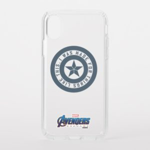 "Avengers: Endgame | Captain America ""I Was Made"" Speck iPhone Case"