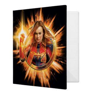 Avengers: Endgame | Captain Marvel Avengers Logo 3 Ring Binder