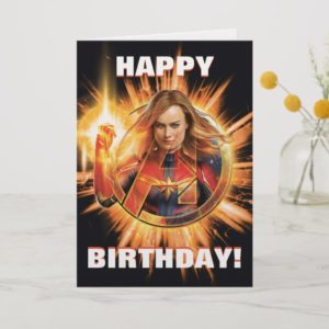 Avengers: Endgame | Captain Marvel Avengers Logo Card