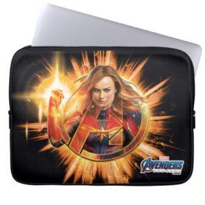 Avengers: Endgame | Captain Marvel Avengers Logo Computer Sleeve