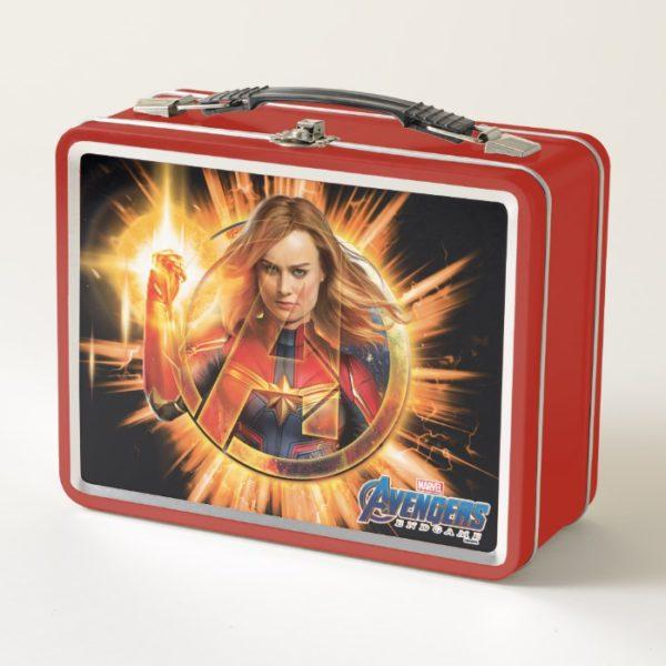 Avengers: Endgame | Captain Marvel Avengers Logo Metal Lunch Box