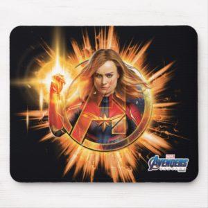 Avengers: Endgame | Captain Marvel Avengers Logo Mouse Pad