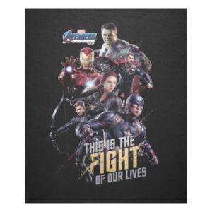 """Avengers: Endgame   """"Fight Of Our Lives"""" Avengers Fleece Blanket"""