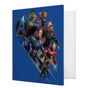 Avengers: Endgame | Group With Blue Logo 3 Ring Binder