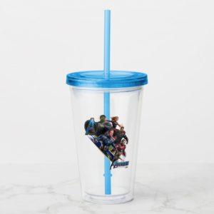 Avengers: Endgame | Group With Blue Logo Acrylic Tumbler
