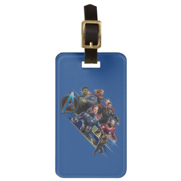 Avengers: Endgame   Group With Blue Logo Bag Tag