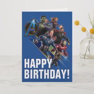 Avengers: Endgame | Group With Blue Logo Card