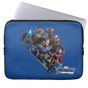 Avengers: Endgame | Group With Blue Logo Computer Sleeve