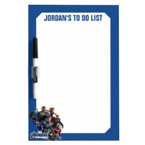 Avengers: Endgame | Group With Blue Logo Dry Erase Board