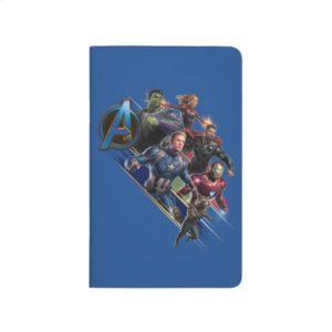 Avengers: Endgame | Group With Blue Logo Journal