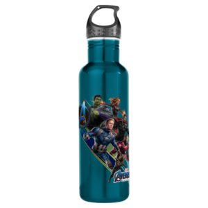 Avengers: Endgame | Group With Blue Logo Stainless Steel Water Bottle