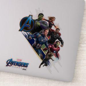 Avengers: Endgame | Group With Blue Logo Sticker