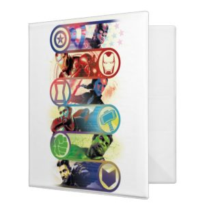 Avengers: Endgame | Heroes & Icons Graphic 3 Ring Binder