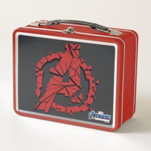 Avengers: Endgame | Shattered Avengers Logo Metal Lunch Box
