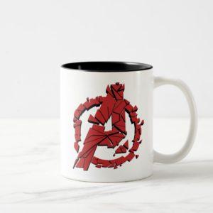 Avengers: Endgame   Shattered Avengers Logo Two-Tone Coffee Mug