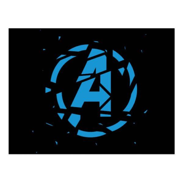 Avengers: Endgame | Splintered Avengers Logo Postcard