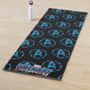 Avengers: Endgame | Splintered Avengers Logo Yoga Mat