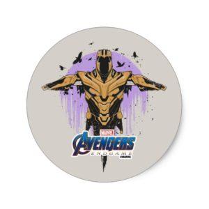 Avengers: Endgame | Thanos Armor Graphic Classic Round Sticker
