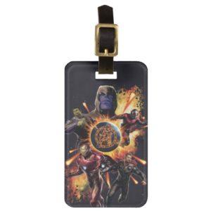 Avengers: Endgame | Thanos & Avengers Fire Graphic Bag Tag