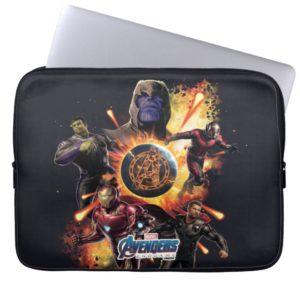 Avengers: Endgame | Thanos & Avengers Fire Graphic Computer Sleeve